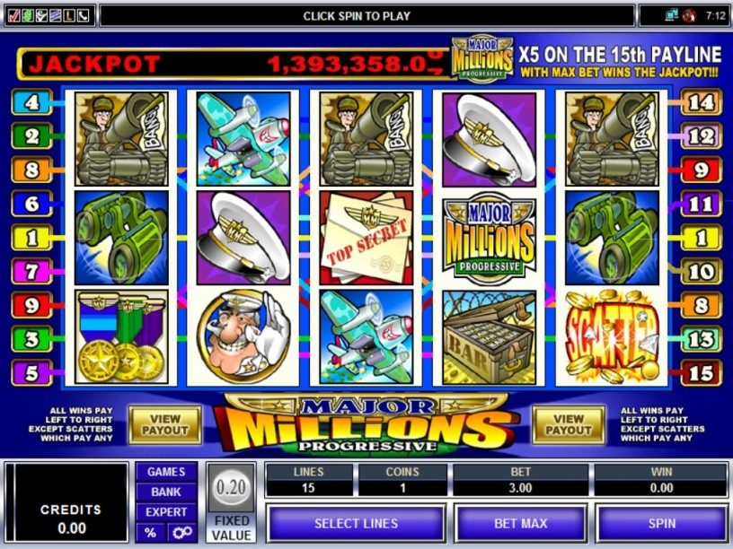 Major Millions Slots Game